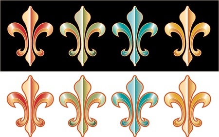 vector heraldic element in four colors Vector