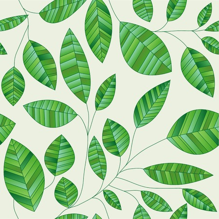 vector seamles green leaves wallpaper Vector