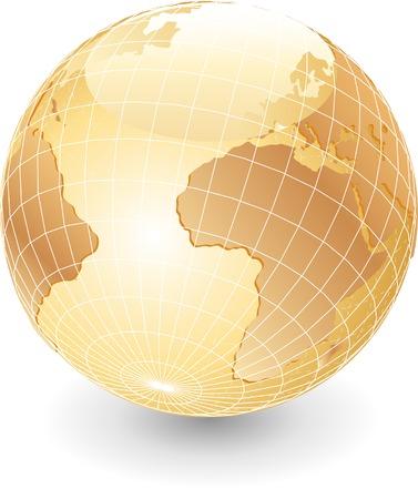 vector globe in pearl colors Stock Vector - 3057151