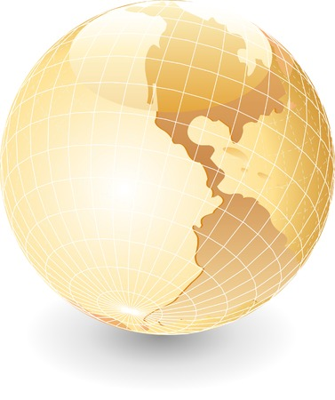 위도: vector globe in pearl colors 일러스트