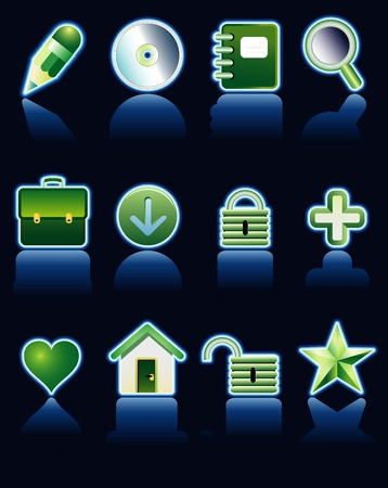 vector neon icons for web and computing Stock Vector - 3057147