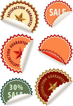 vector sticky labels for diverse products Vector
