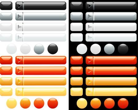 kwadrant: Vector, białego i pomarańczowy przycisków dla Internetu
