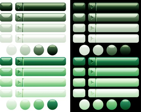 vector green buttons for web and computing