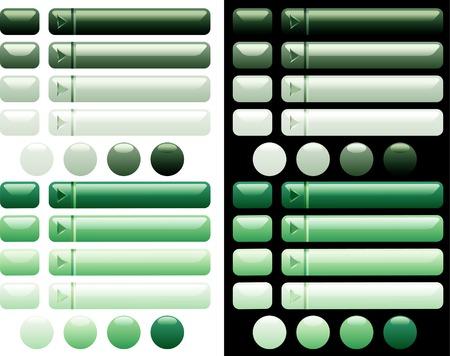 kwadrant: wektor zielone przyciski do sieci i komputerów
