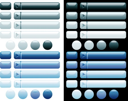 vector blue buttons for web and computing Stock Vector - 3116627