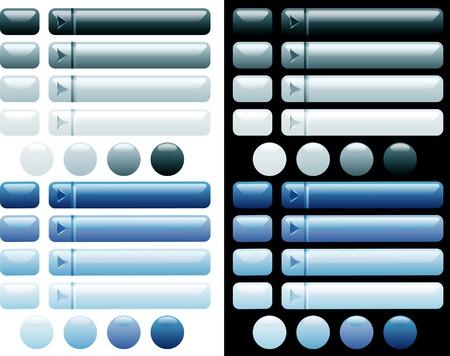 kwadrant: wektor niebieski przycisków internetowych i informatyka