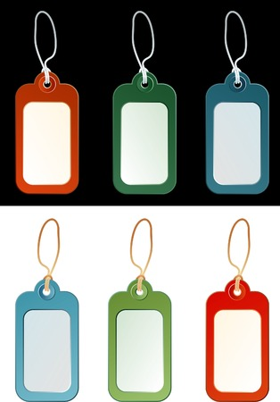 vector tags in different colors Stock Vector - 3116624