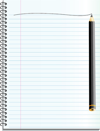 schedule appointment: vector notebook with black pencil