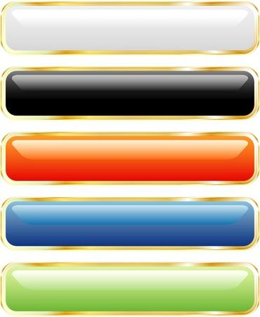 kwadrant: wektor długo przycisków w pięciu kolorach