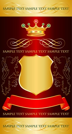 vector red label with royal crown for different products Stock Vector - 3116636