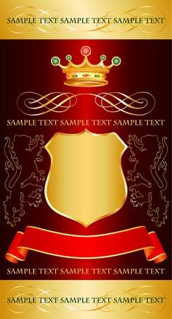 koninklijke kroon: vector rood label met Royal Crown voor verschillende producten