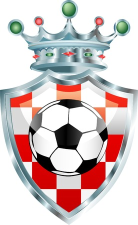 bal: vector soccer bal on croatian coat of arms Illustration
