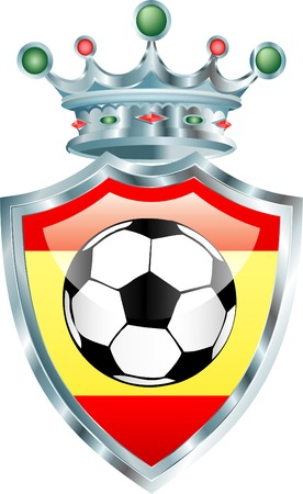 champion of spain: vector soccer ball with spain flag