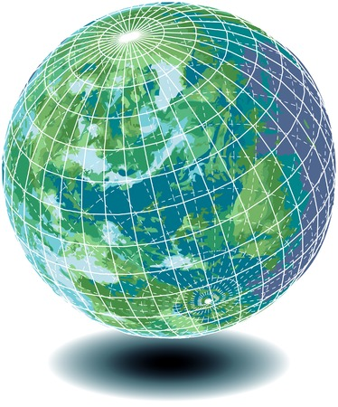 vector illustration of the globe like blue marble Stock Vector - 3159282
