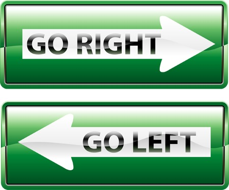 vector traffic signs for right and left Vector