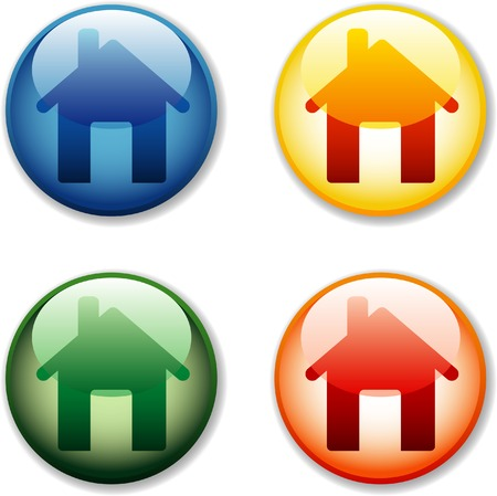 vector house icons Vector