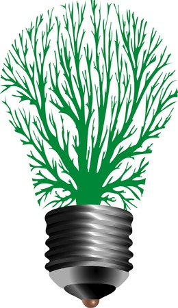 vector symbolic illustration for ecological energy Vector
