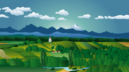 vector illustration of the country landscape Vector