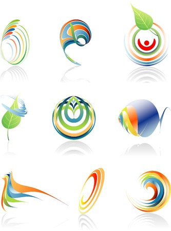 original vector signs for various activities in the environment and business Vector