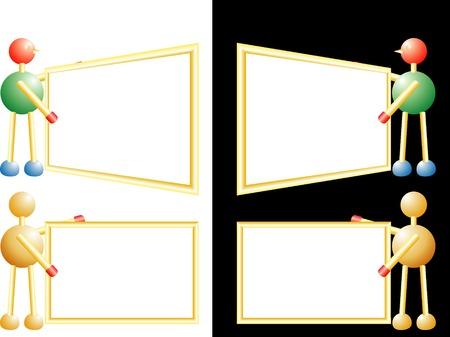 vector blank frame Vector