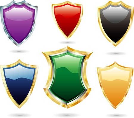 vector shields Stock Vector - 3513749