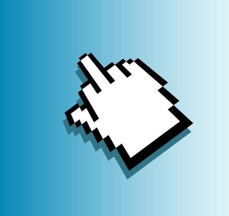 vulgar: vector vulgar hand cursor Illustration