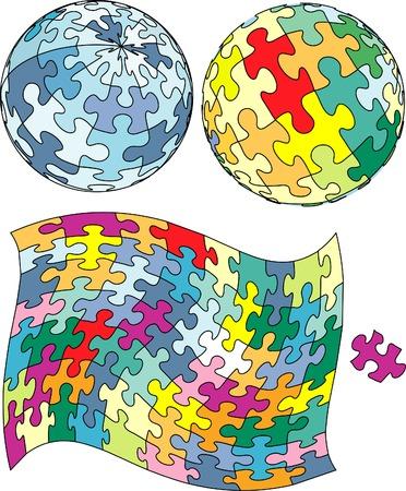 vector puzzle Vector