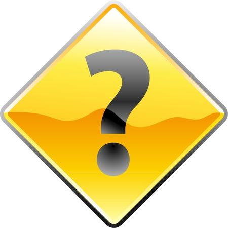 question mark: Vektor-Illustration des Verkehrs-Abfrage Zeichen