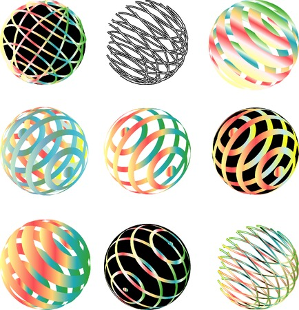 vector abstract spheres Stock Vector - 3652939