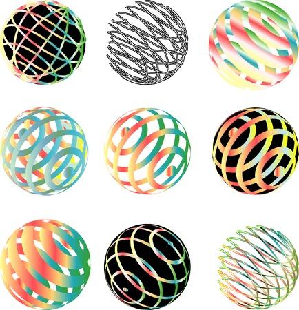 vector abstract spheres Vector