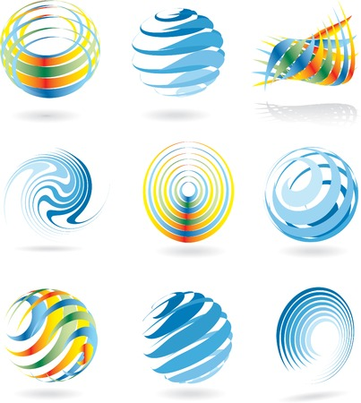 orbs: vector abstract signs for various business Illustration