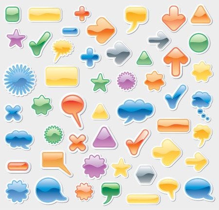 add button: vector sticky labels Illustration