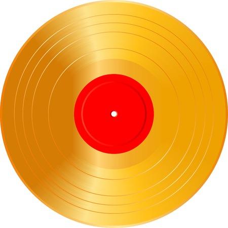 giradisco: illustrazione vettoriale realistica del Golden vuoto LP