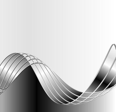 gray strip: vector abstract sheet metal waves