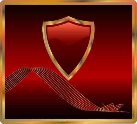 vector red shield Vector