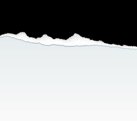 color separation: vector black ripped paper Illustration