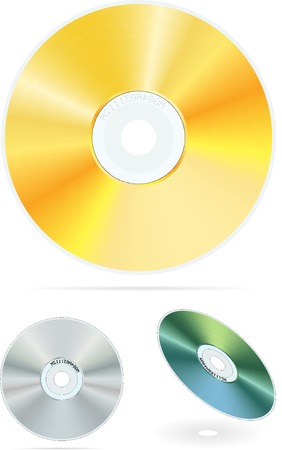 cdr: vector realistic compact disc