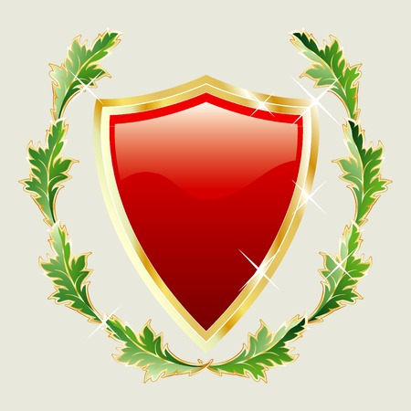 vector shield with crest Vector