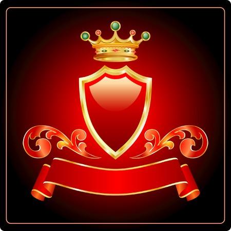 shield emblem: vettore di etichetta per i diversi prodotti