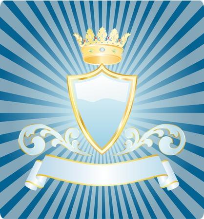 crests: vettore scudo azzurro con corona