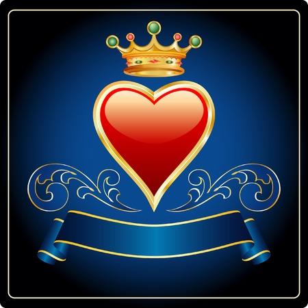 vector heart of gold Vector