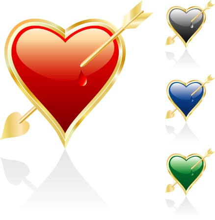 vector illustration of the wounded heart Vector