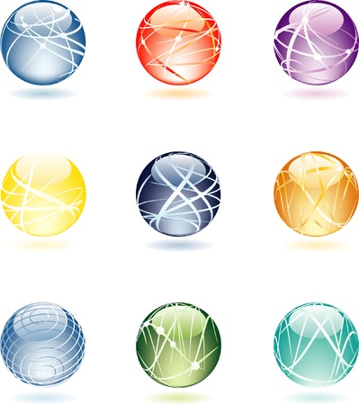 vector abstract spheres Vector