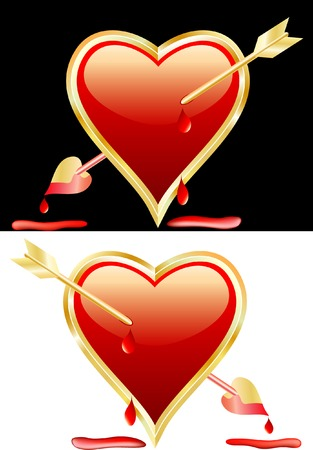 vector bloody heart Иллюстрация
