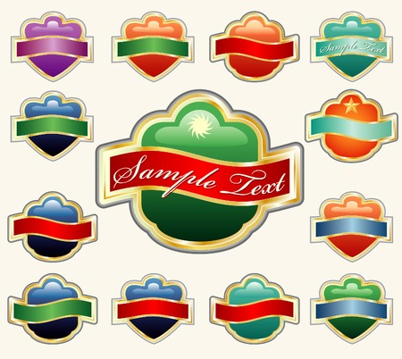 vector labels for diverse products like food, beverages, cosmetics etc. Stock Vector - 3928184