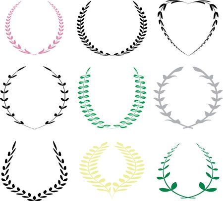 olive wreath: vector laureles