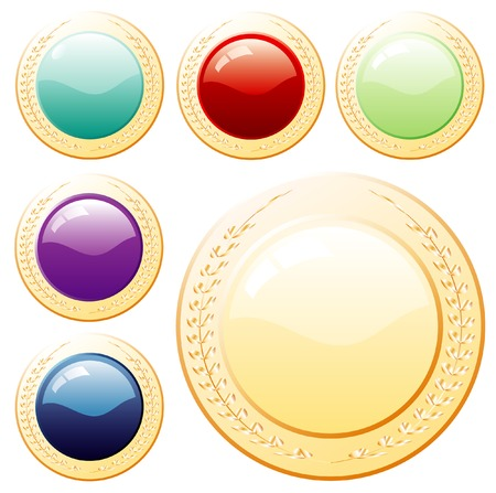 vector buttons Stock Vector - 4052776
