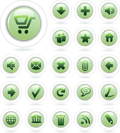 vector buttons for computing and web Stock Vector - 4052774