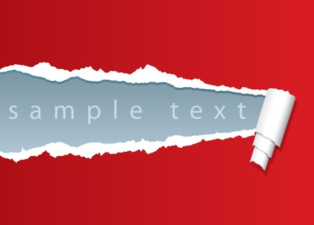 tears: vector ripped paper with sample text in separate layer